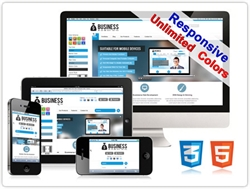 SP20035 CSS3 HTML5 Unlimited Colors Responsive Skin Pack 021 3DGallery Social Blog (DNN6/7)