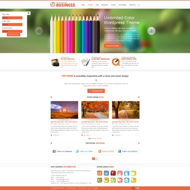 SP20038 CSS3 HTML5 Unlimited Colors Responsive Skin Pack 024 3DGallery Blog PageTemplate