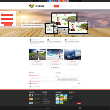 SP20036 CSS3 HTML5 Unlimited Colors Responsive Skin Pack 022