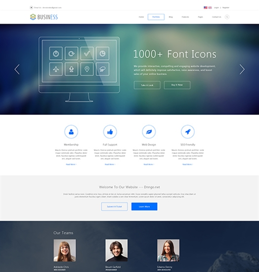 SP20054 Unlimited Responsive Multi-Purpose DNN Theme